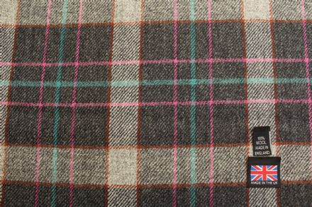 100% Pure New Wool Shetland Tweed Plaid Fabric BZ99